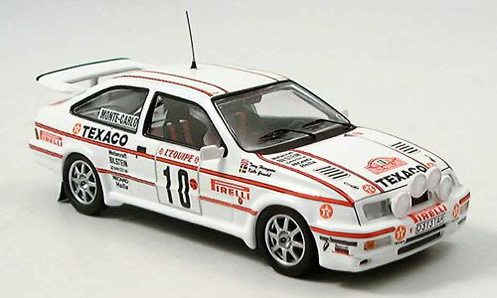 Ford Sierra Cosworth RS 1/43 Trofeu Cosworth Texaco Rally Monte Carlo 1987 miniature