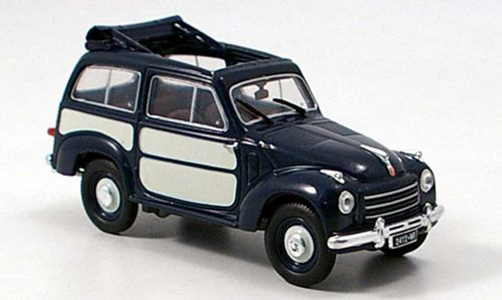 Fiat 500 1/43 Norev Belvedere bleu 1952 modellautos