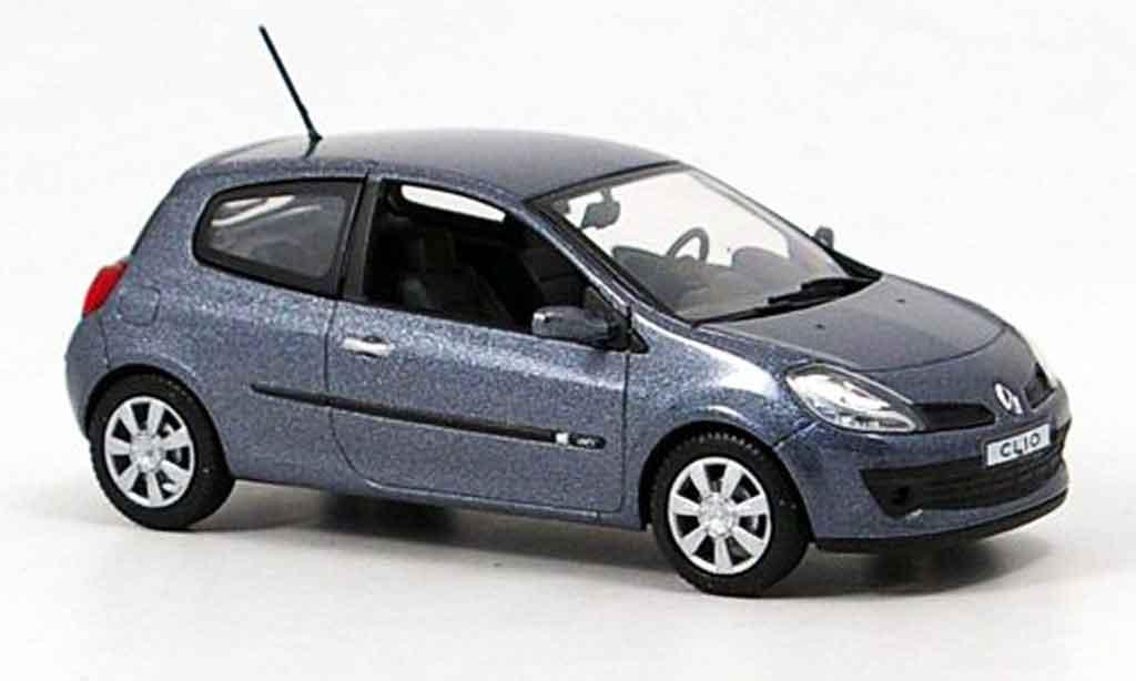 Renault Clio 1/43 Norev iii bleugrise 3 turer miniature