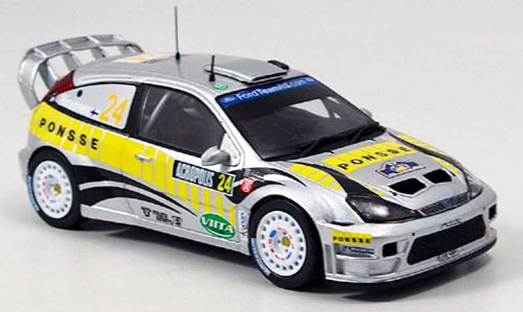 Ford Focus RS WRC 1/43 IXO No.24 Rally Akropolis 2005 miniature