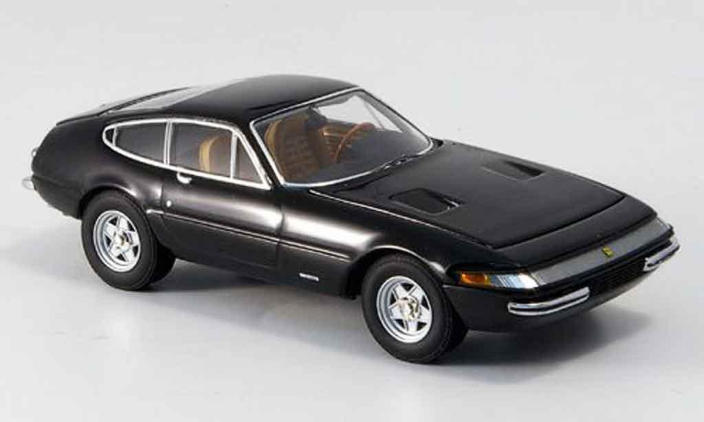 Ferrari 365 GTB/4 1/43 Kyosho negro 1969 miniatura