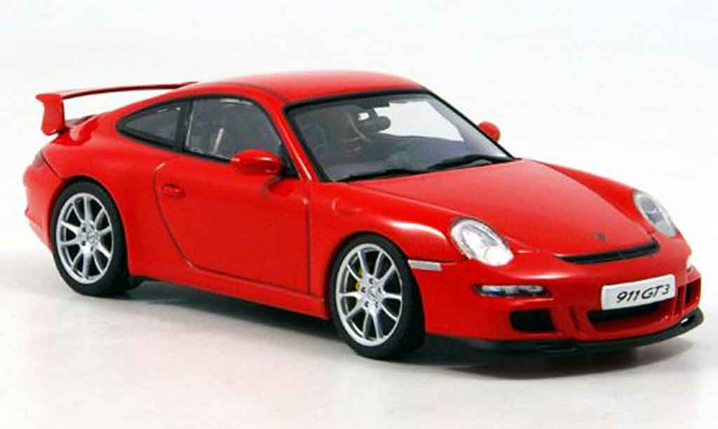 Porsche 997 Carrera 1/43 Autoart Carrera rouge miniature