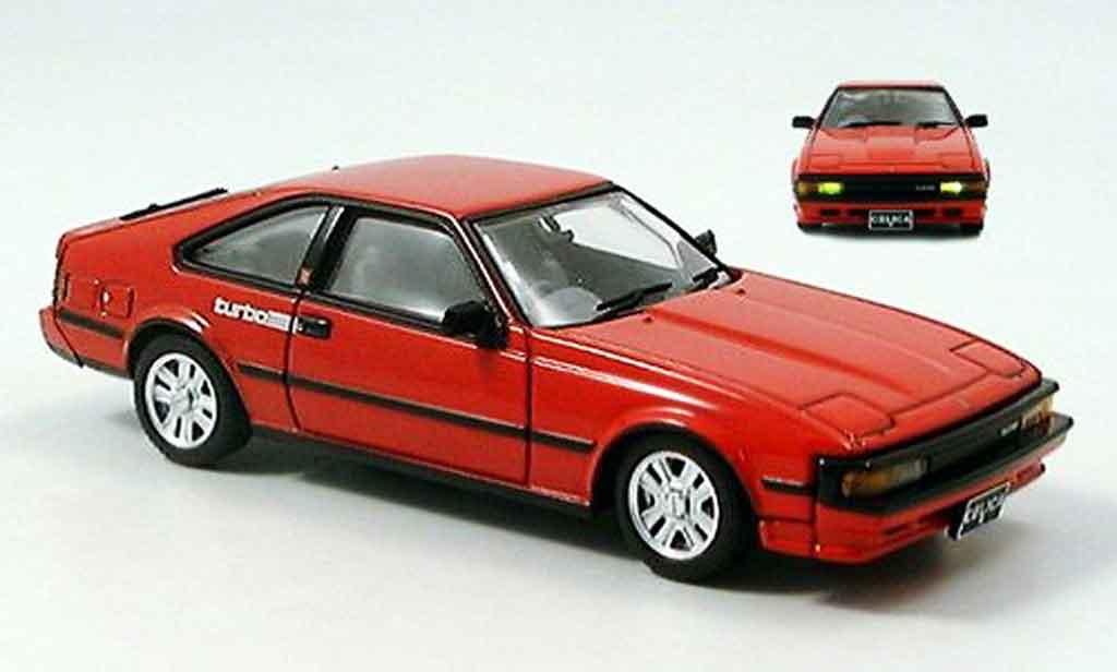 Toyota Celica 1/43 Aoshima g turbo rouge 1983 miniature