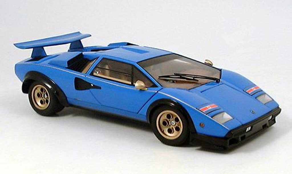 Lamborghini Countach LP 500 1/18 Kyosho s bleu miniature