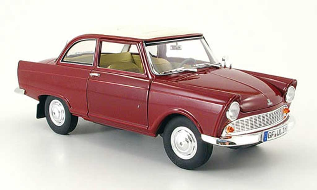 DKW Junior 1/18 Revell rouge blanche 1959 miniature