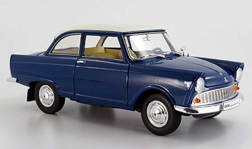 DKW Junior 1/18 Revell bleu grun blanche 1959