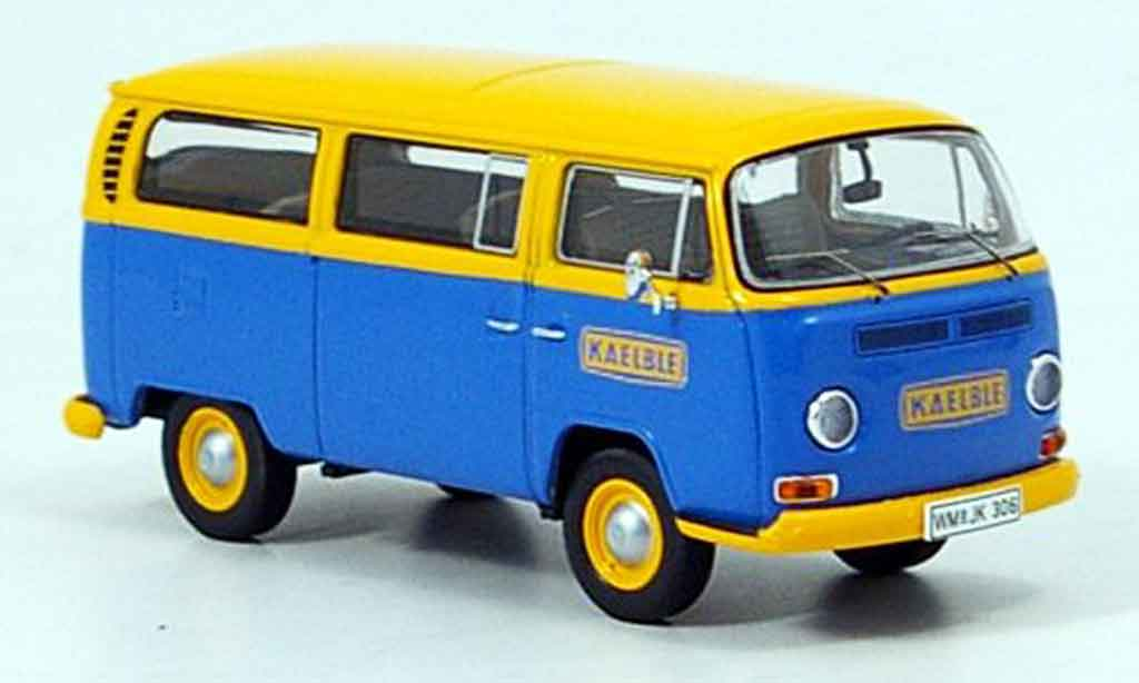 Volkswagen Combi 1/43 Premium Cls t2a bus kaelble kundendienst bleu jaune miniature