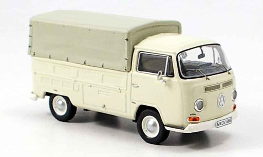 Volkswagen Combi 1/43 Premium Cls t2a pritsche avec plane blanco miniatura