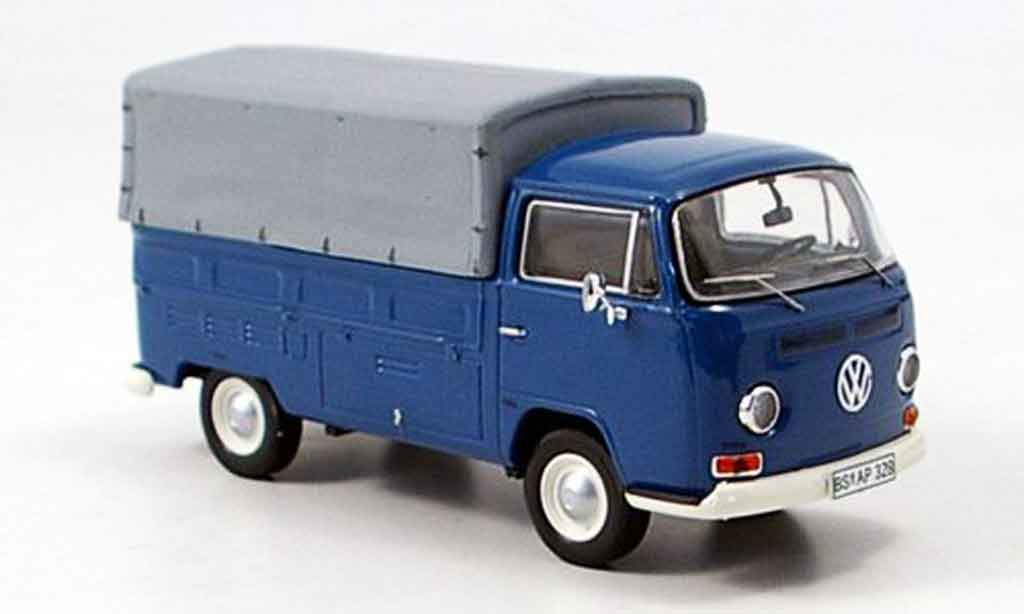Volkswagen Combi 1/43 Premium Cls t2a pritsche avec plane bleu miniature