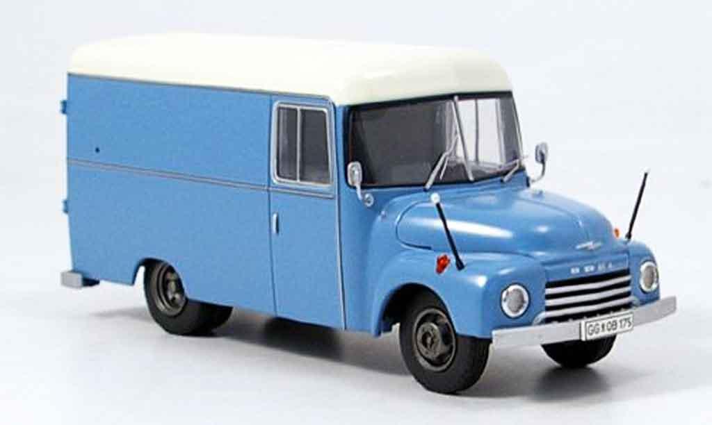 Opel Blitz 1/43 Premium Cls 175 kastenwagen bleu beige miniature
