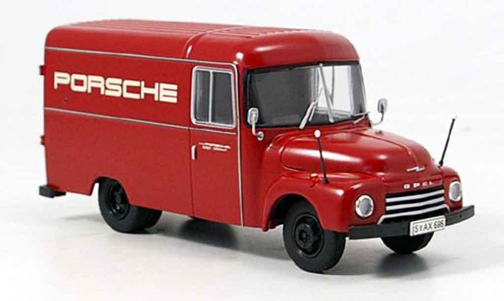 Opel Blitz 1/43 Premium Cls 175 renntransporter porsche rouge miniature