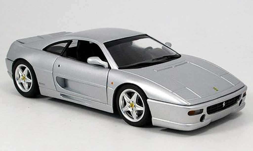 Ferrari F355 Berlinetta 1/18 Hot Wheels gtb grise miniature