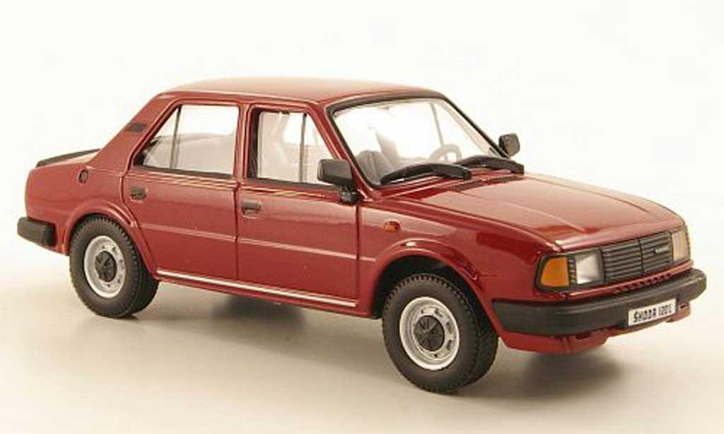 Skoda 120 1/43 Abrex L rouge 1986 miniature