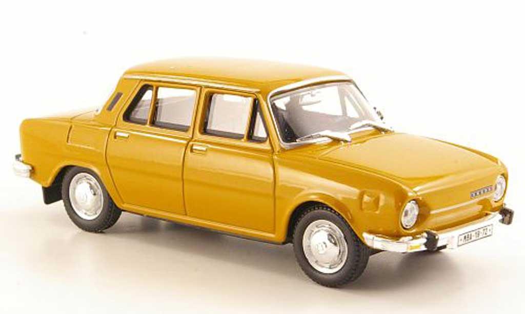 Skoda 110 1/43 Abrex L marron 1969 miniature