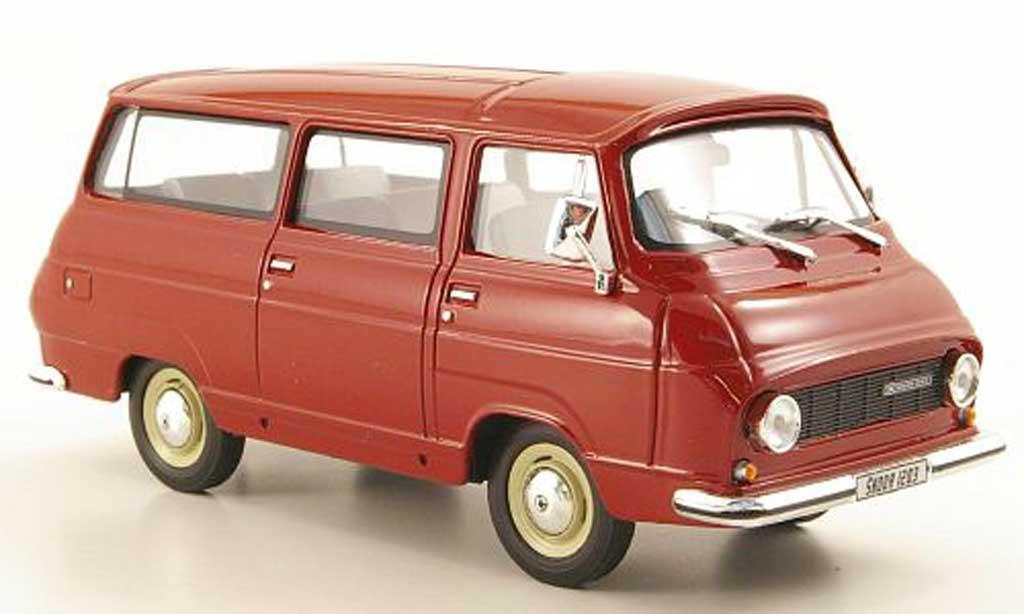 Skoda 1203 1/43 Abrex Lieferwagen rouge miniature
