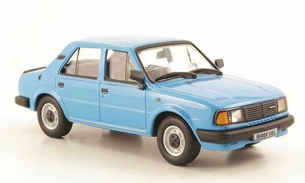 Skoda 120 1/43 Abrex L bleu 1986 miniature