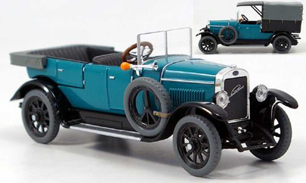 Skoda 110 1/43 Abrex Laurin & Klement Combi Limousine/Lieferwagen bleugrun 1927 miniature