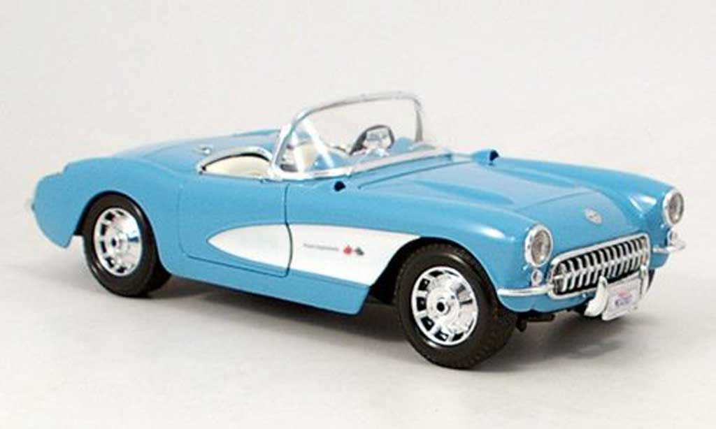 Chevrolet Corvette C1 1/18 Maisto bleu white 1957 diecast model cars
