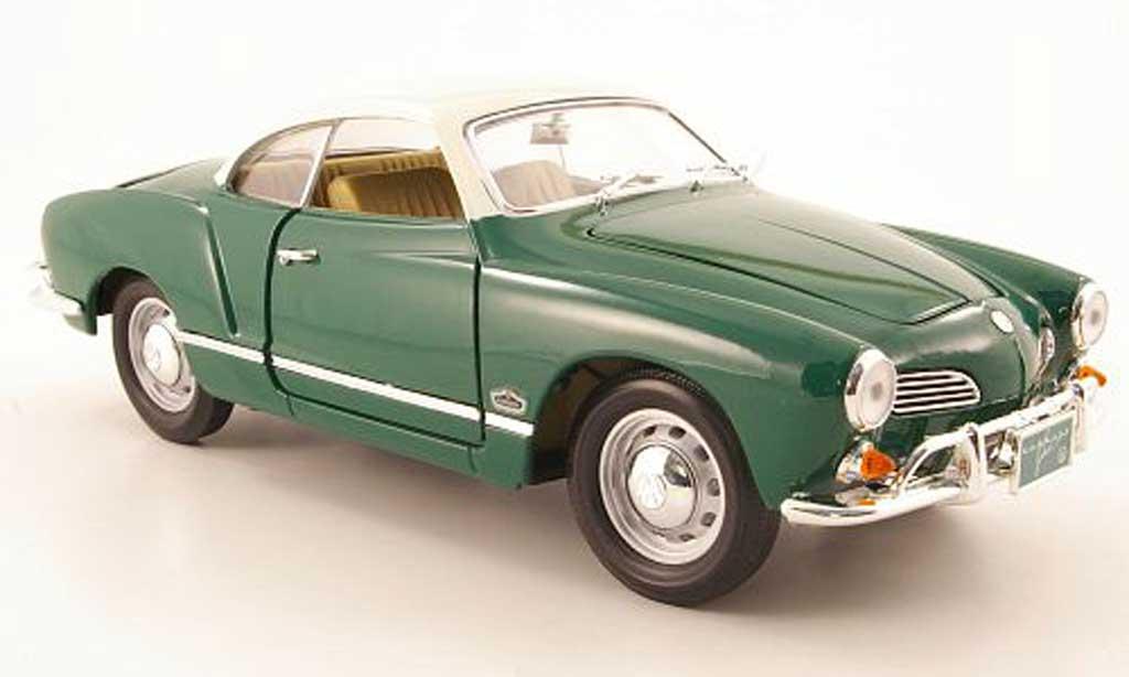 Volkswagen Karmann 1/18 Yat Ming ghia vert et blanc 1966 miniature