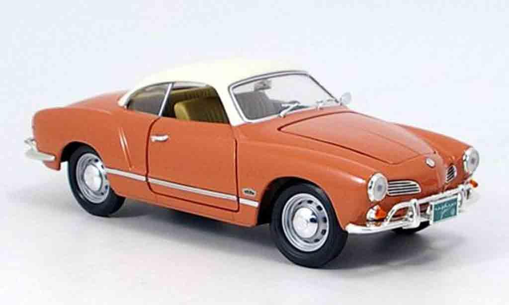 Volkswagen Karmann 1/18 Yat Ming ghia marron et blanc 1966 diecast