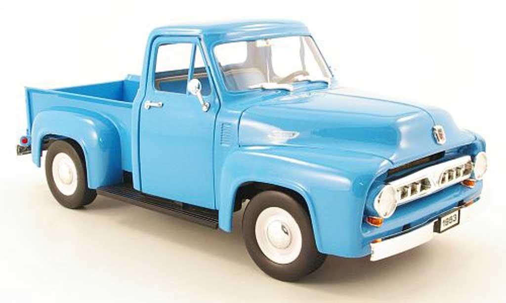 Ford F 100 1/18 Yat Ming bleu 1953 miniature