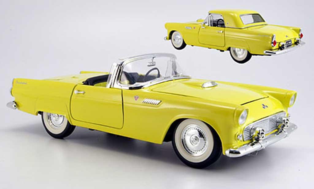 Ford Thunderbird 1955 1/18 Yat Ming jaune miniature