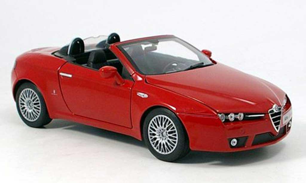 Alfa Romeo Spider 1/18 Norev red 2006 diecast