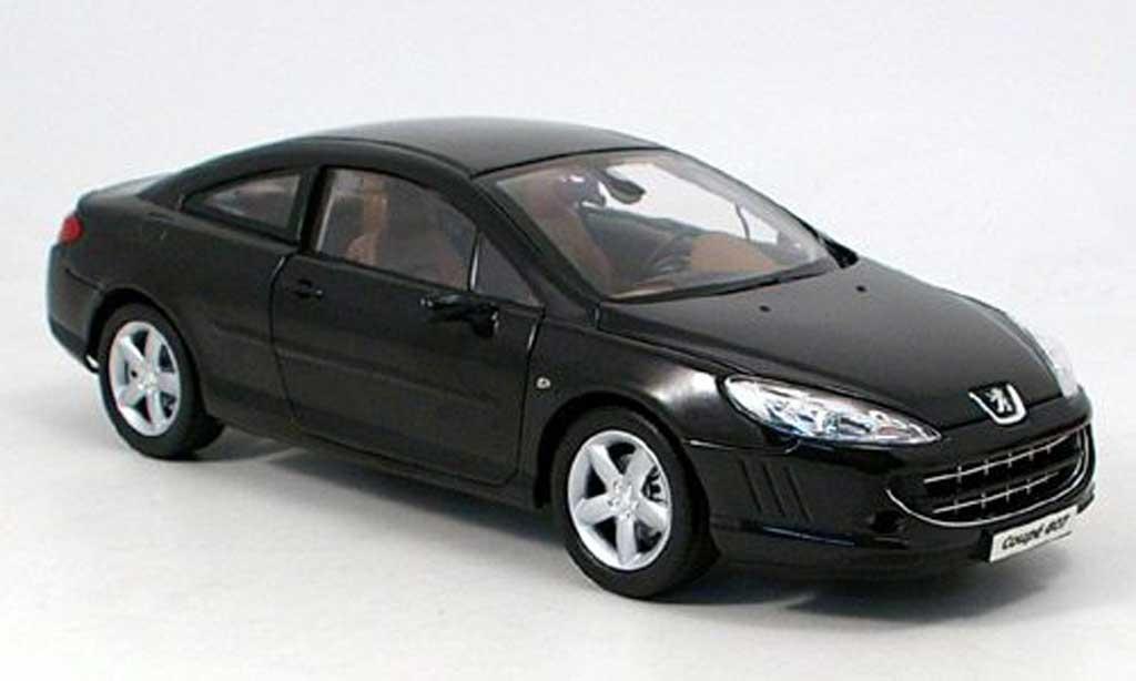 Peugeot 407 coupe 1/18 Norev noire 2005 miniature