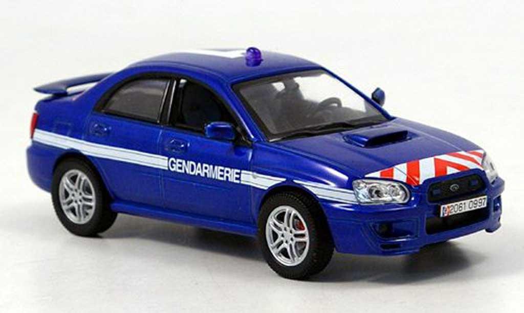 Subaru Impreza WRX 1/43 Norev Gendamerie Polizei Frankreich 2003 modellautos
