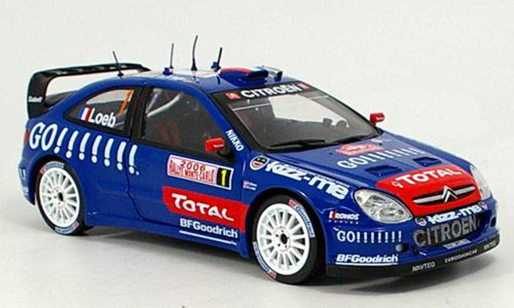 Citroen Xsara WRC 2006 1/18 Solido no.1 total rallye monte carlo miniature