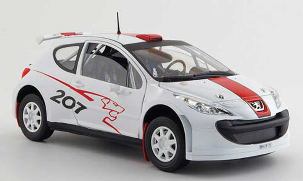 Peugeot 207 S2000 1/18 Solido blanche/rouge 2006 miniature