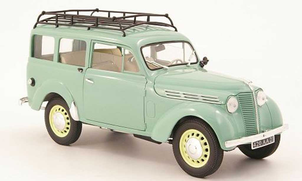 Renault Juvaquatre 1/18 Solido break gray green 1952 diecast