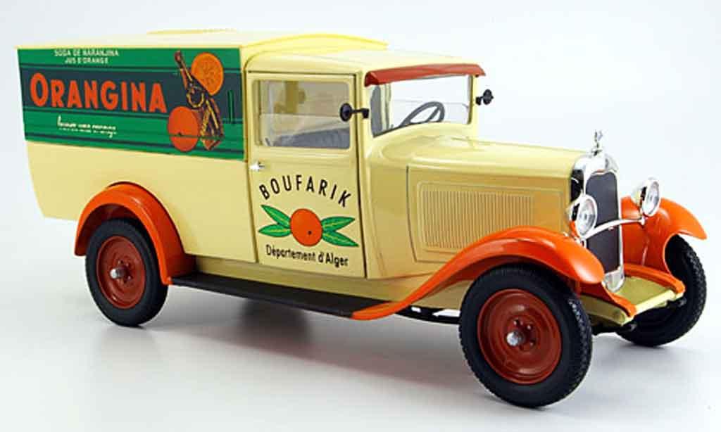 Citroen C4 1930 1/18 Solido lieferwagen orangina diecast