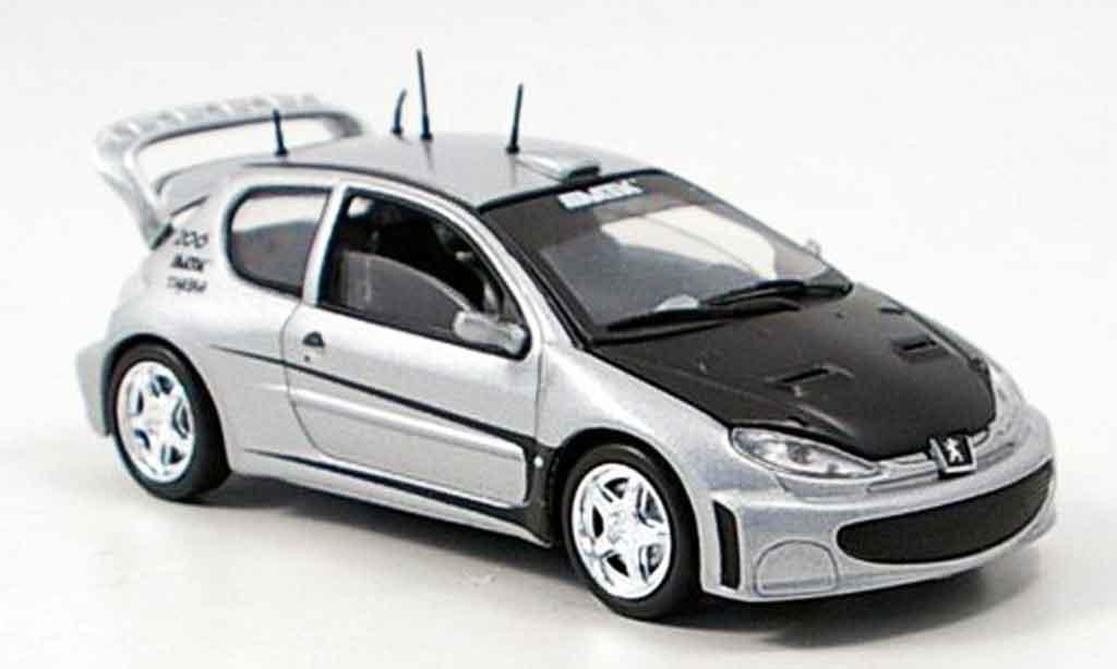 Peugeot 206 1/43 Solido tuning grise metallisee miniature