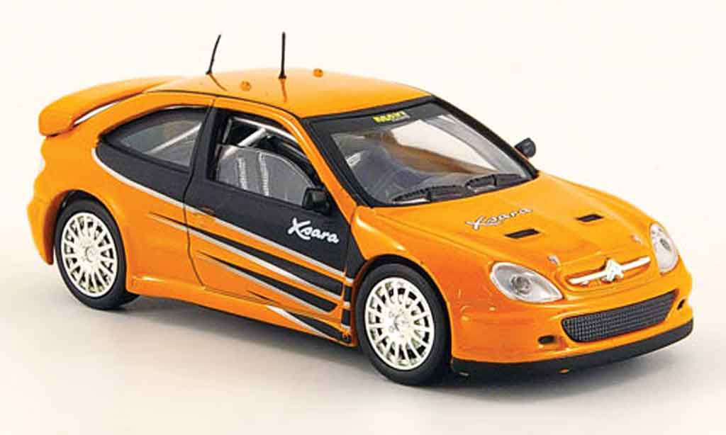 Citroen Xsara 1/43 Solido tuning orange miniature