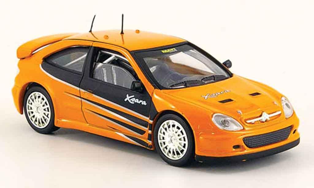 Citroen Xsara 1/43 Solido tuning orange miniature