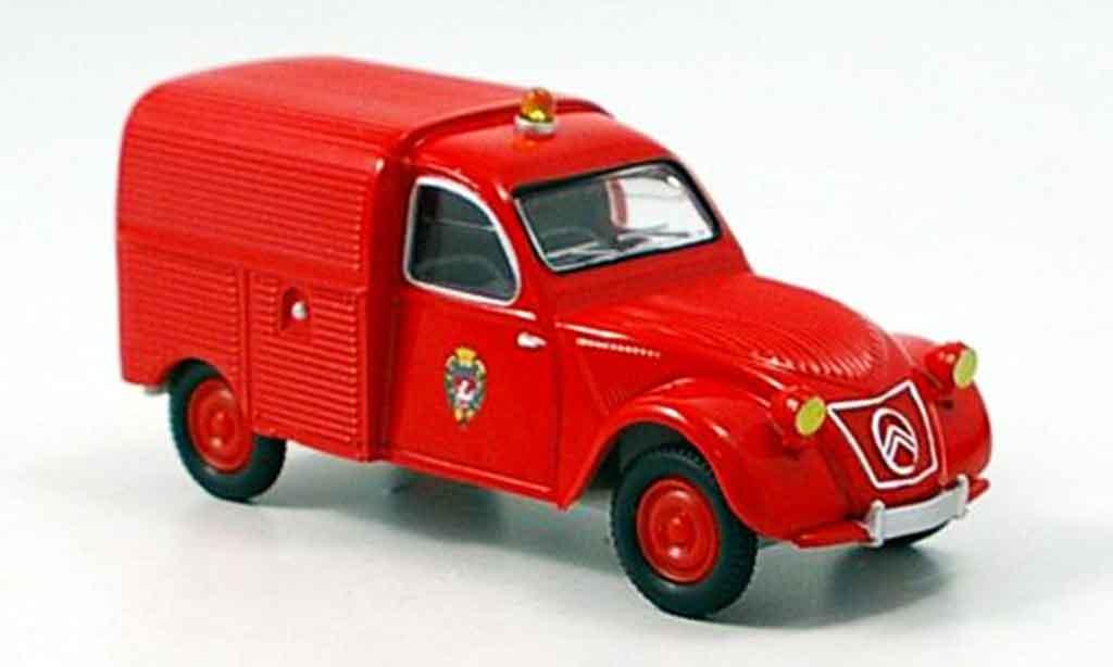 Citroen 2CV 1/43 Solido kastenente pompier miniature