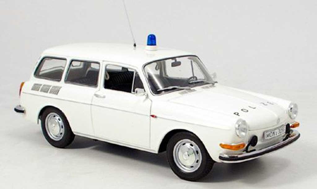 Volkswagen 1600 1/18 Minichamps l variant polizei 1972 diecast