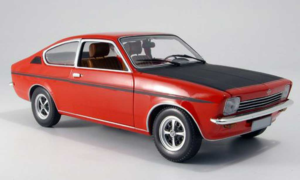 Opel Kadett coupe 1/18 Minichamps c sr red black 1976 diecast