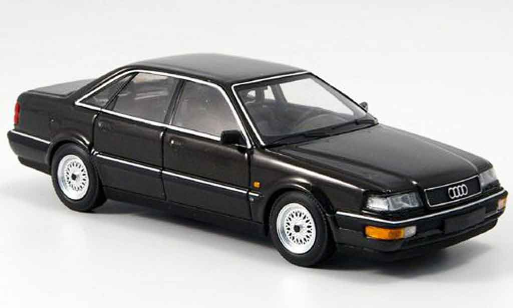 Audi V8 Quattro 1/43 Minichamps noire 1988 miniature
