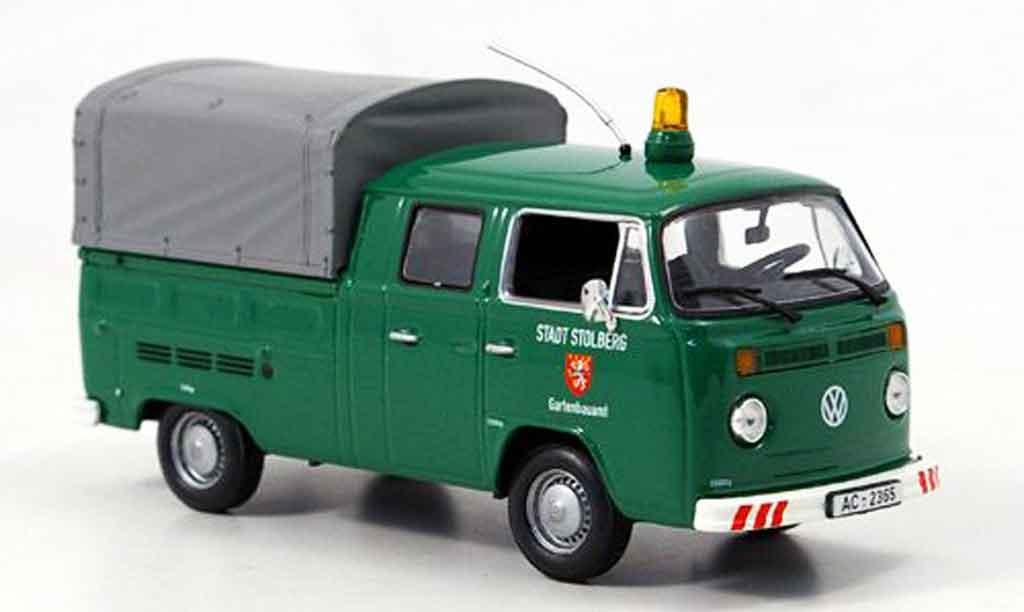Volkswagen Combi 1/43 Minichamps t2 doka pritsche stadt stolberg verte miniature