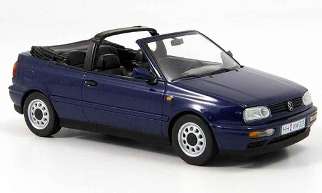 Volkswagen Golf III 1/43 Minichamps cabriolet bleu 1993 diecast