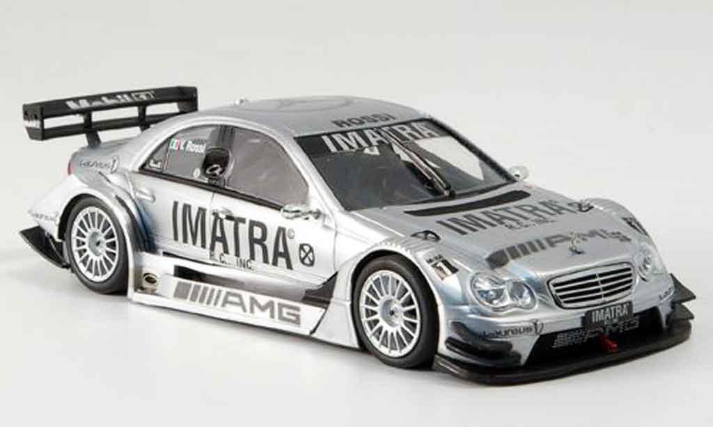 Mercedes Classe C 1/43 Minichamps AMG Test V.Rossi avec Figur miniature