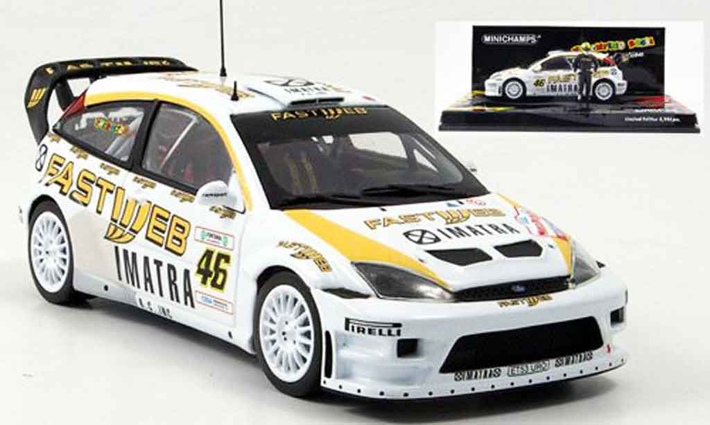 Ford Focus RS WRC 1/43 Minichamps V.Rossi Sieger Monza Show 2006 miniature