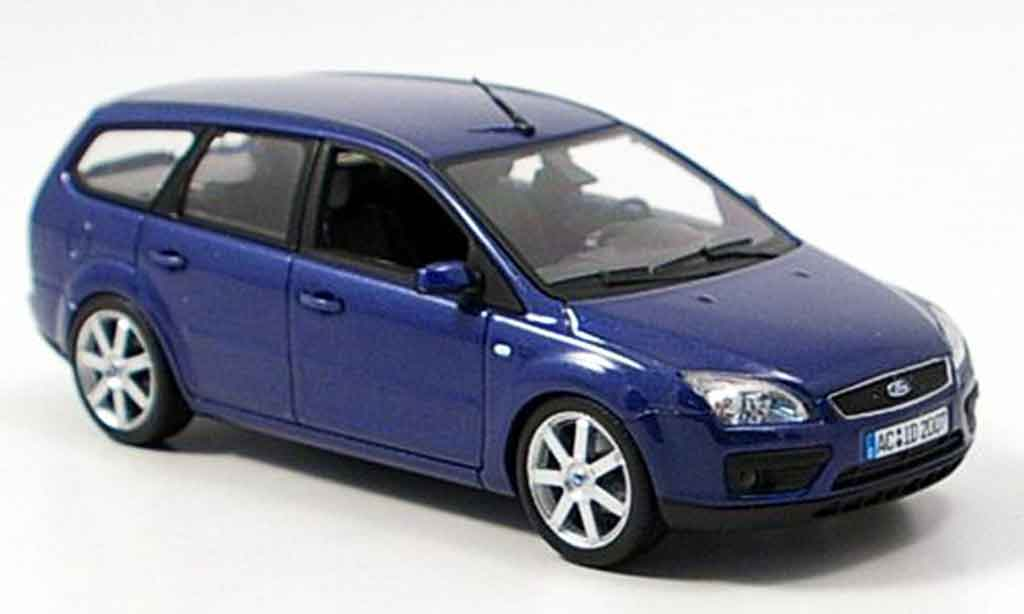 Ford Focus 1/43 Minichamps Turnier bleu 2006 miniature