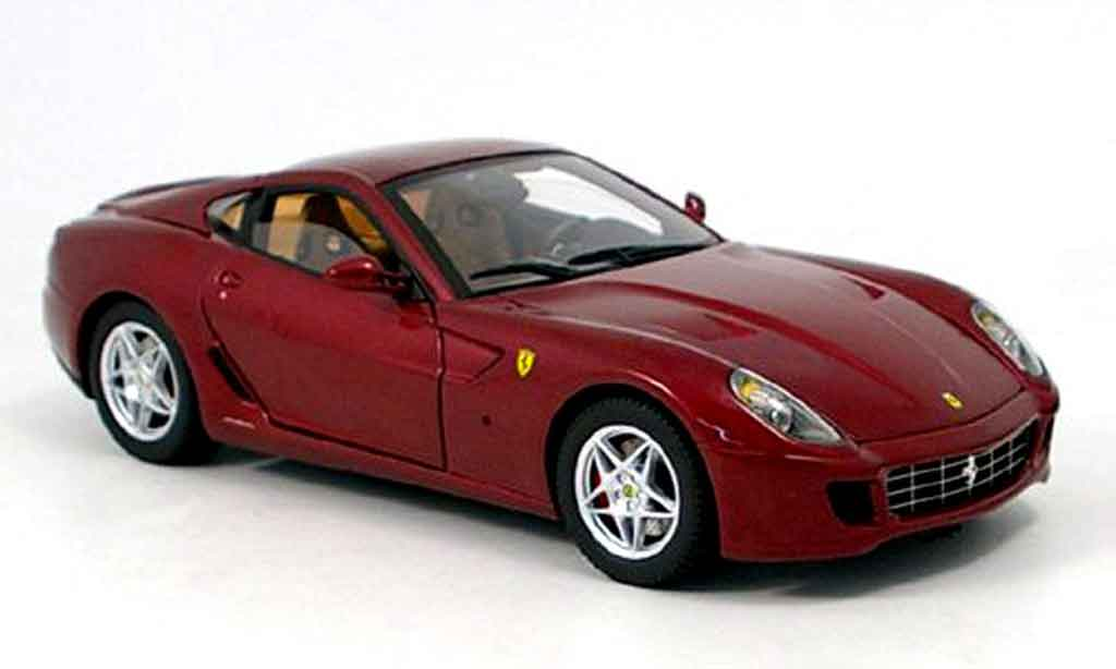 Ferrari 599 GTB 1/18 Hot Wheels Elite fiorano rouge serie elite miniature