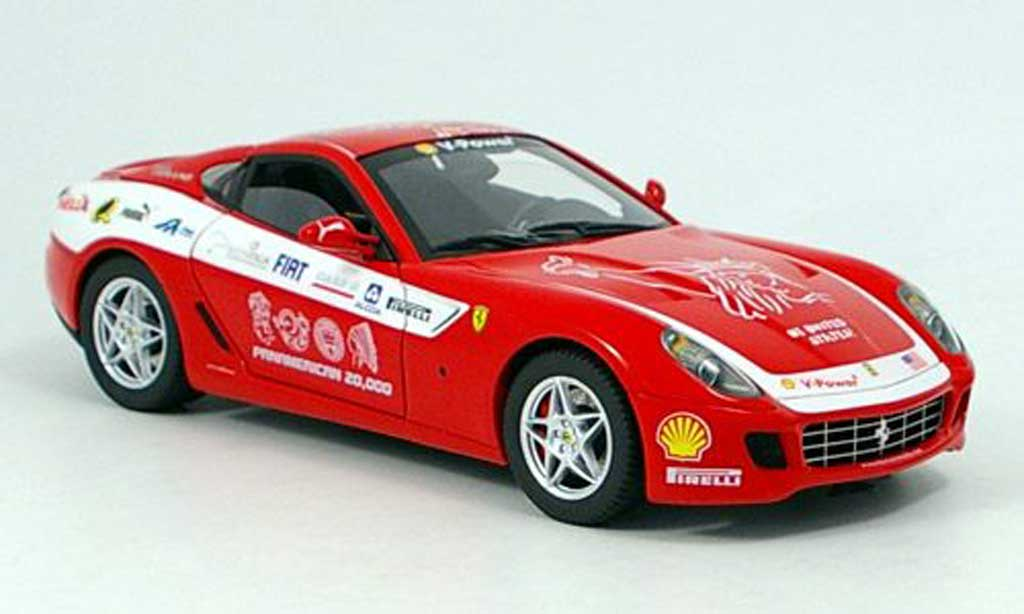 Ferrari 599 GTB 1/18 Hot Wheels Elite Pan Am rosso Touring modellino in miniatura