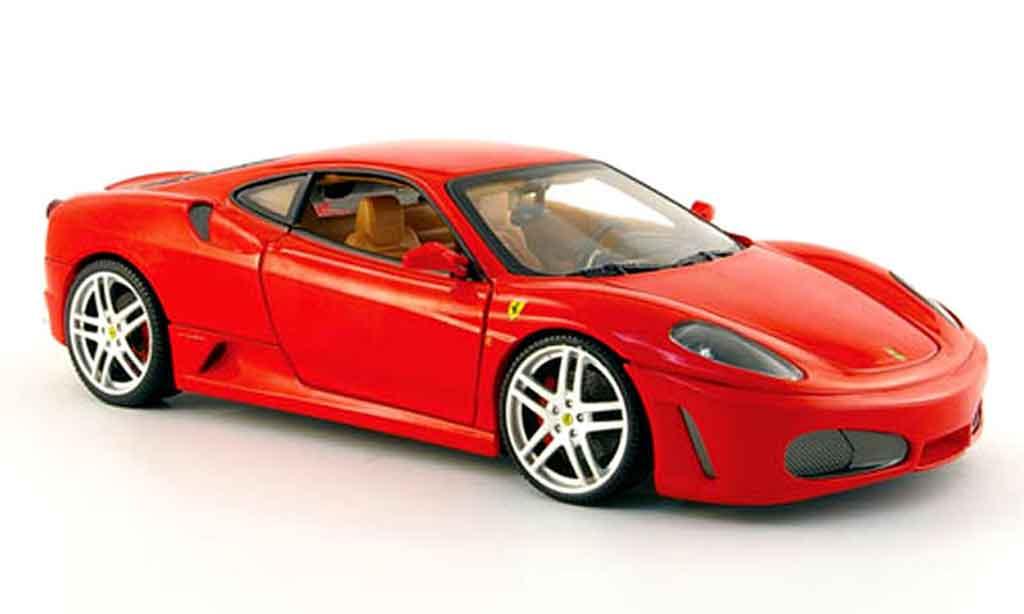 Ferrari F430 1/18 Hot Wheels coupe red avec interieur beige diecast