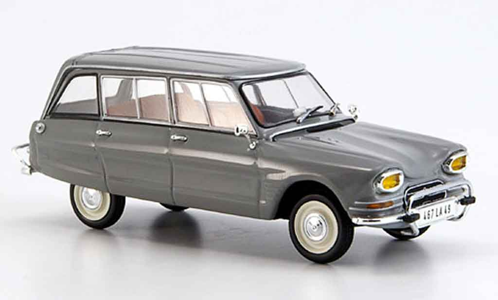 Citroen Ami 6 1/43 Minichamps break grise miniature