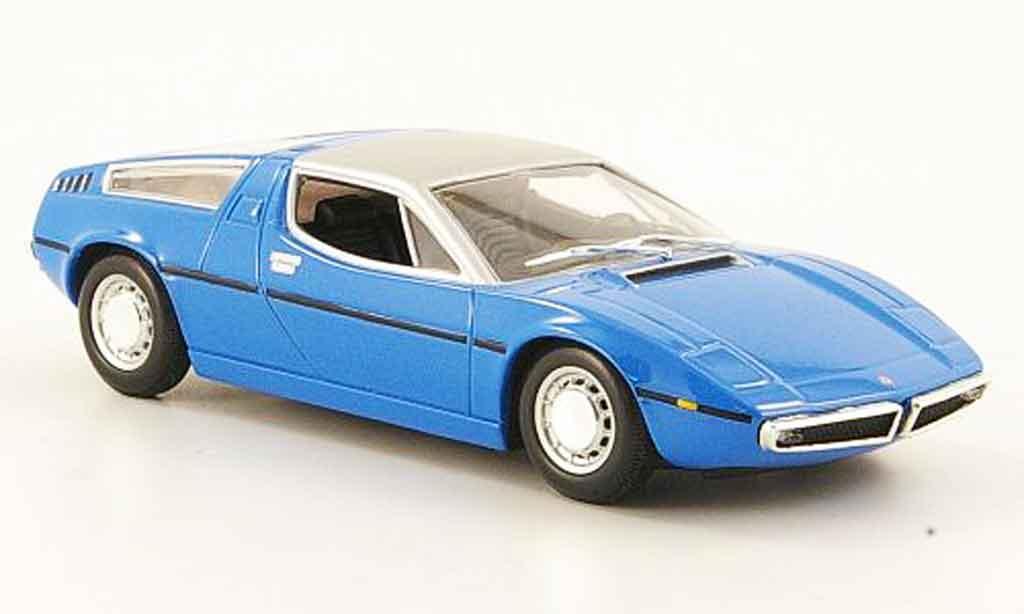 Maserati Bora 1/43 Minichamps bleu 1972 miniature